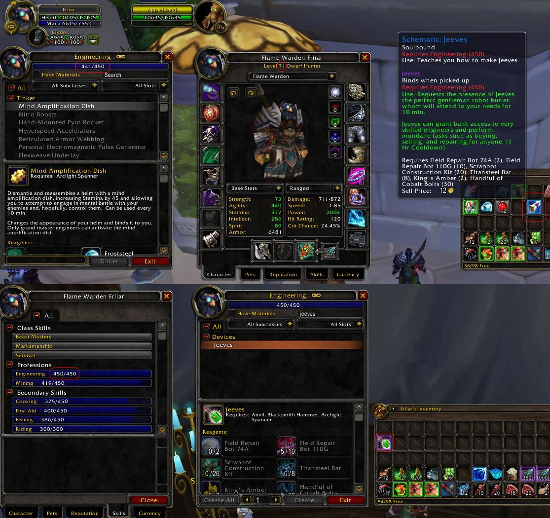 Schematic: Jeeves - Item | WoW Freakz on